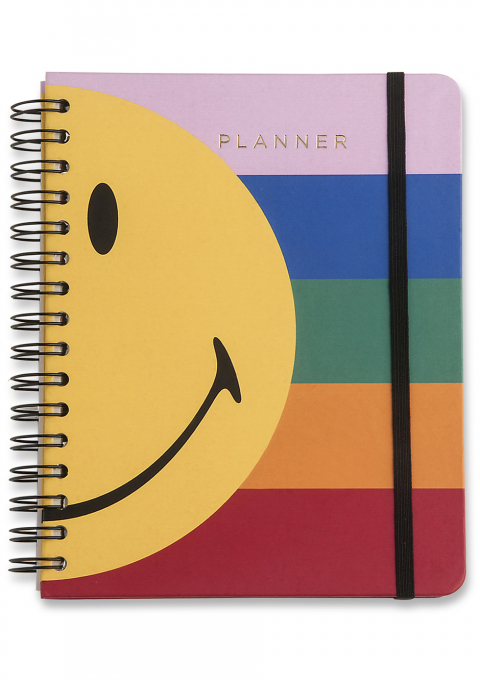 PLANNER WIRE-O SMILEY SEMANAL A5 LISTRAS